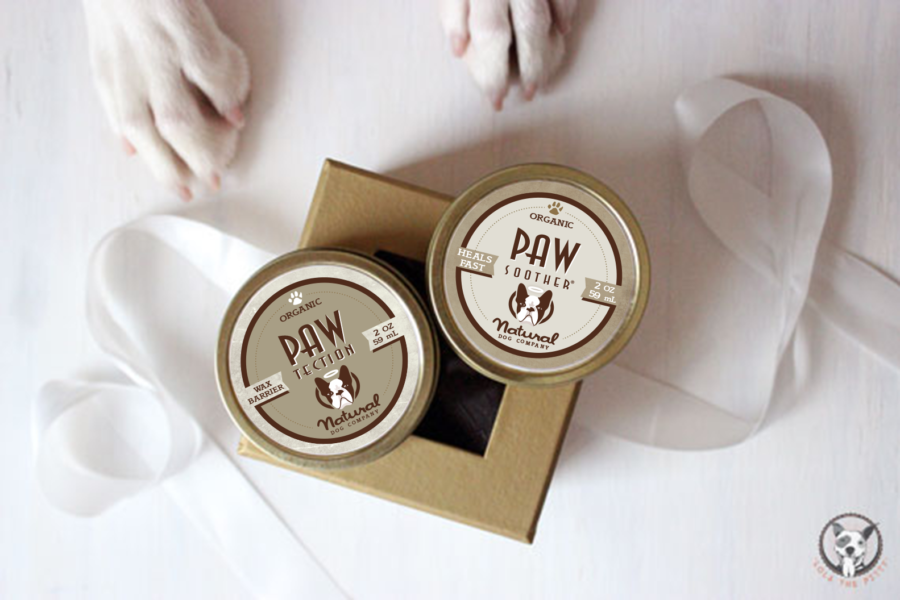 Pawdicure pack PawTection and Paw Soother healing balms for dogs